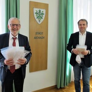 Bürgermeister Klaus Habermann und JUZO Geschäftsführer Jürgen Gold