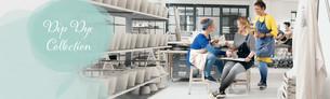 Frauen beim Töpfern mit Kompressionsstrümpfen mit Dip Dye Farbverlauf