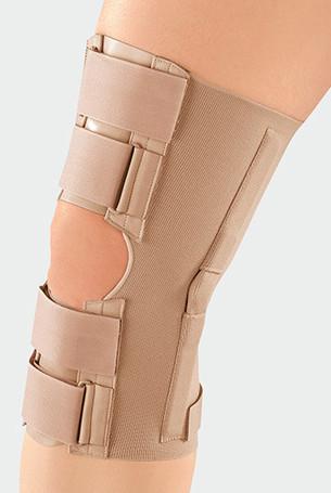 Knie met klittenbandsluiting met gesp van kunststof, voor individuele compressiedosering