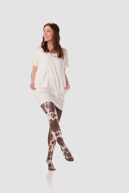 Stockings White Batik Cacao