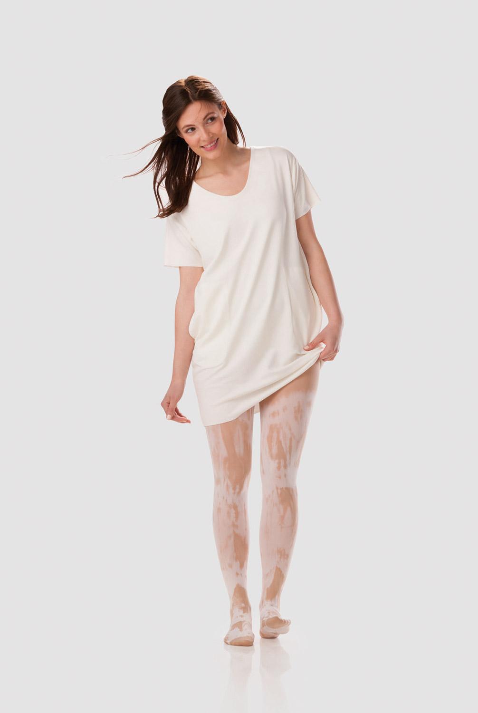 Stockings White Batik Sesame