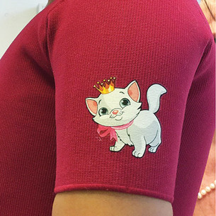 iron-on patch cat