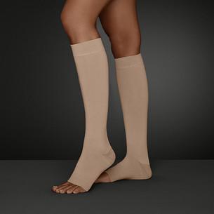 Gambaletto Juzo Move con punta del piede aperta, colore Mandorla