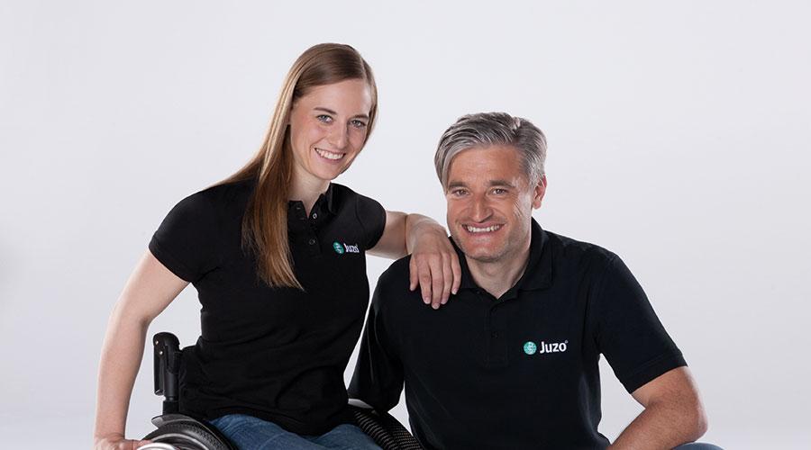 Anna Schaffelhuber y Gerd Schönfelder