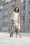Woman wearing the Juzo Inspiration compression garment