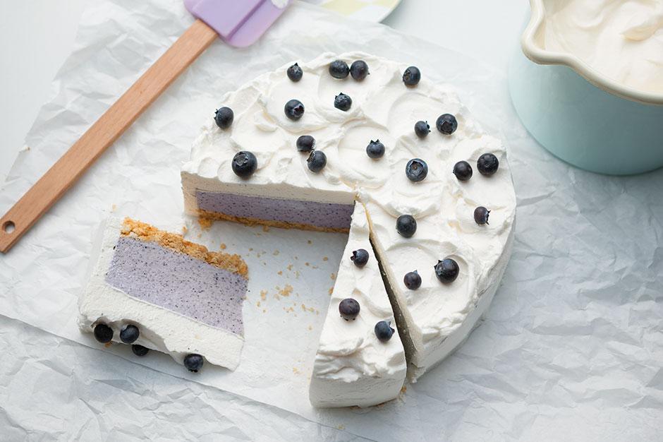 Juzo blåbärs- och ricottatårta