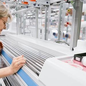 Production flat-knit