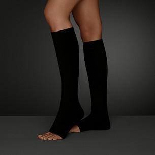 Gambaletto Juzo Move con punta del piede aperta, colore Pepe nero