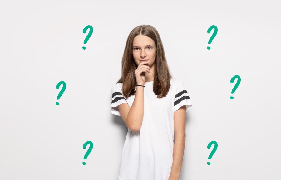 Fragendes Mädchen