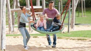 Family at the playground