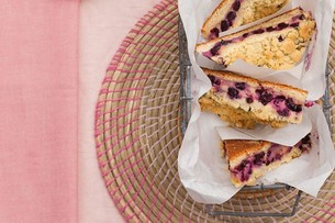 Juzo Blueberry Crumble Slices