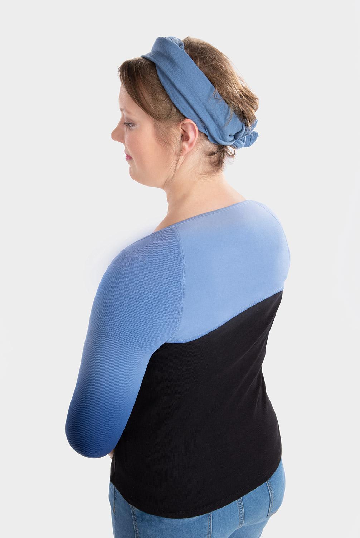 Boleroverbindung in Dip Dye Farbe Blaubeere