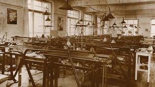Vue sur l'ancien atelier de production