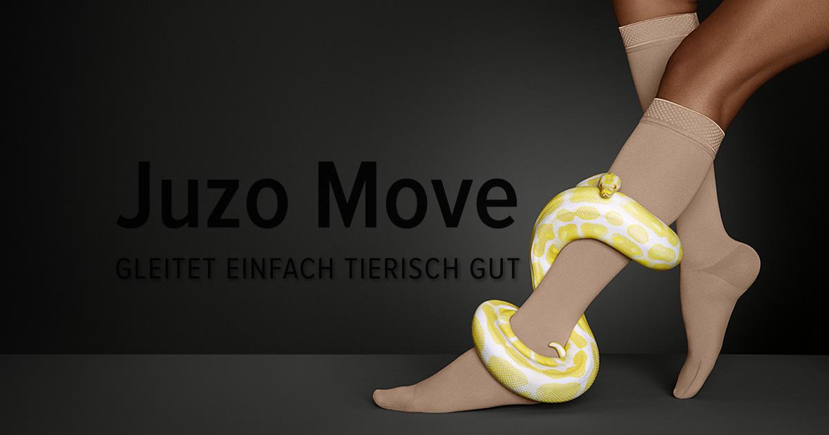 Juzo Move – GLEITET EINFACH TIERISCH GUT