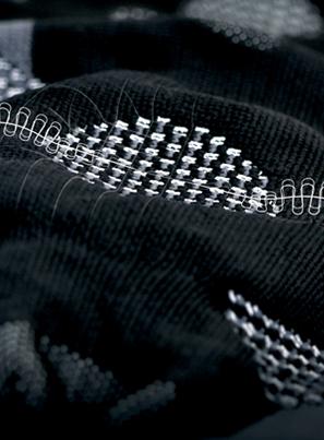 Xtra-strikmaterialet som knæbandage