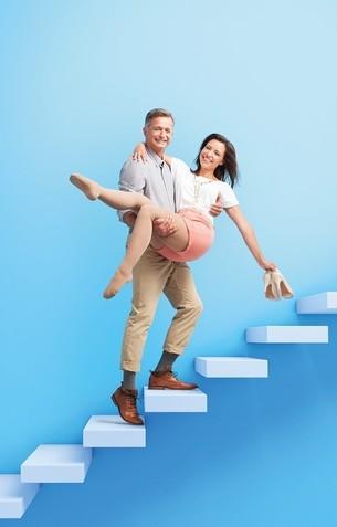 Ett par på trappan