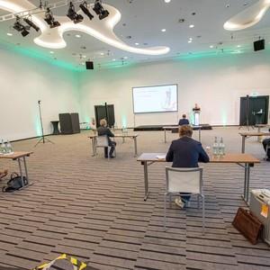 Erstes Juzo Symposium, das via Livestream übertragen wurde. Blick in den Raum