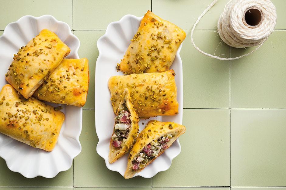 Juzo empanada's gevuld met ham