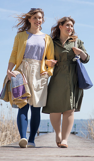 To kvinder med paraply
