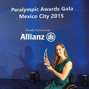"Anna is crowned ""best para-athlete."""
