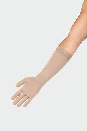 Juzo ScarPrime Seamless Handske beige lang model