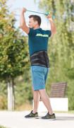 Man exercising with JuzoPro Lumbal